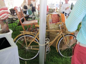 garden show market with a wicker bike