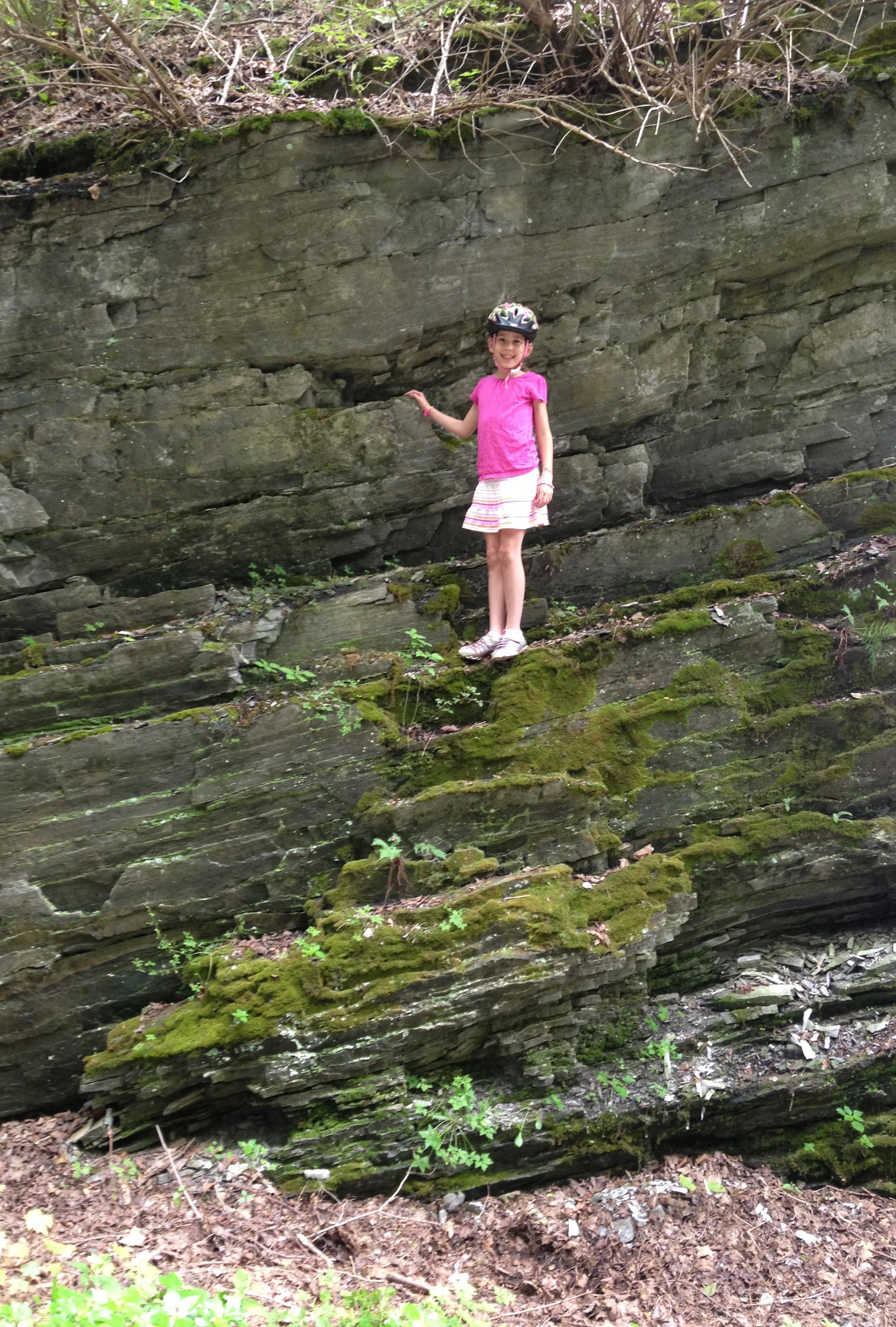 Rail Trail Climbing Rocks! Biking in Dutchess County
