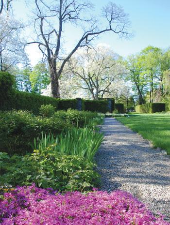 Beatrix Farrand garden in Spring