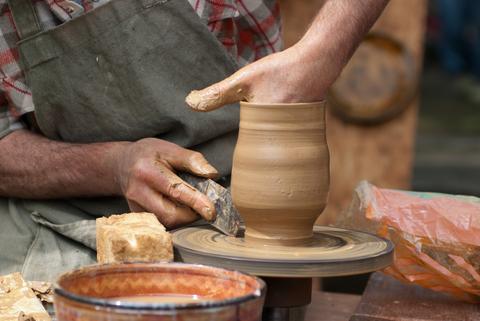 potter at wheel